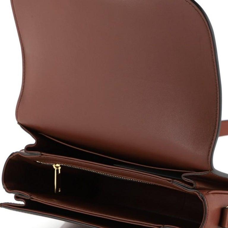 Celine Triomphe Shoulder Bag Smooth Calfskin Medium 4