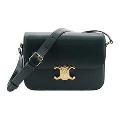 Celine Triomphe Shoulder Bag Smooth Calfskin Medium