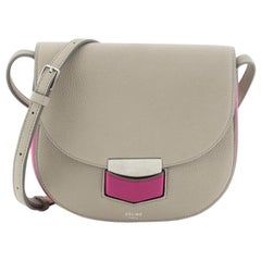 Celine Trotteur Crossbody Bag Grainy Leather Small