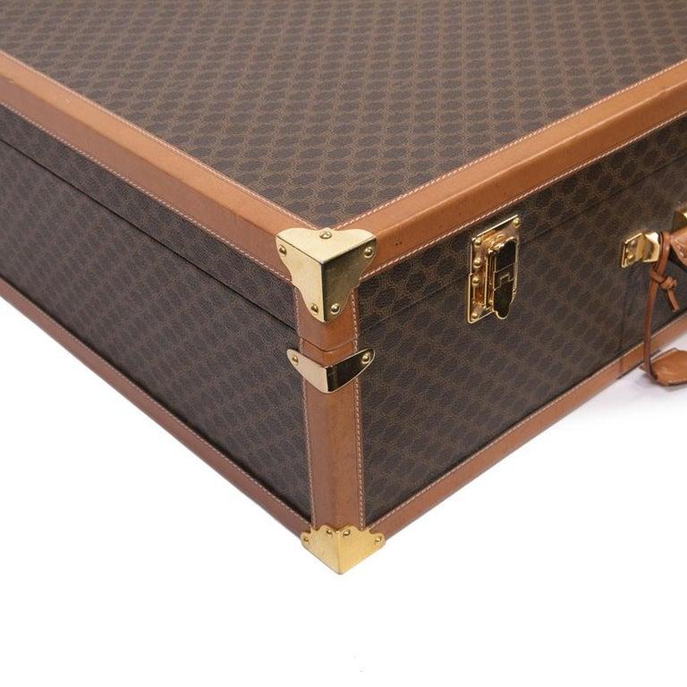 CELINE Trunk / Hard Case In Brown Canvas: Large For Sale 5