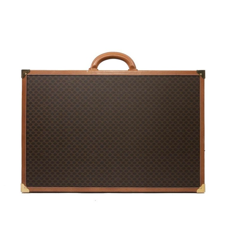 Women's or Men's CELINE Trunk / Hard Case In Brown Canvas: Large For Sale