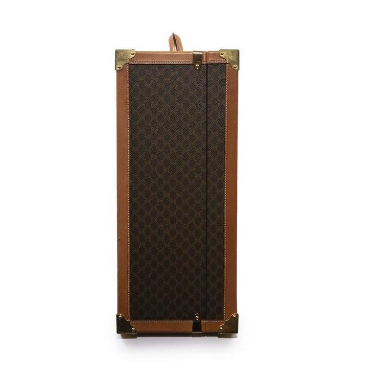 CELINE Trunk / Hard Case In Brown Canvas: Large For Sale 2
