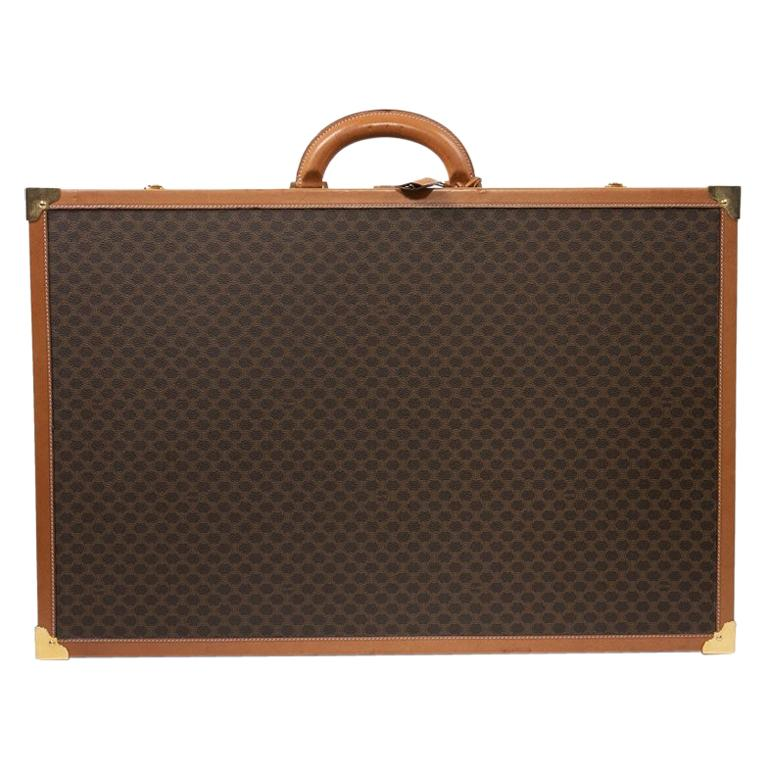 CELINE Trunk / Hard Case In Brown Canvas: Large For Sale