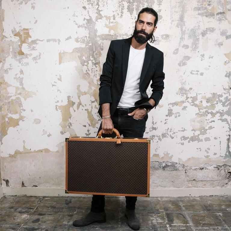 CELINE Trunk / Hard Case In Brown Canvas: Medium In Good Condition For Sale In Paris, FR