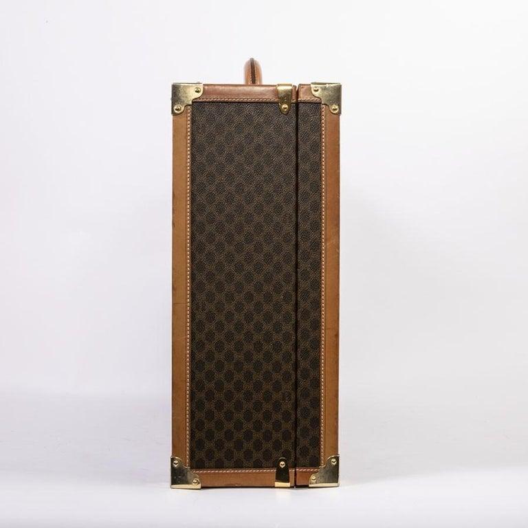 CELINE Trunk / Hard Case In Brown Canvas: Medium For Sale 1