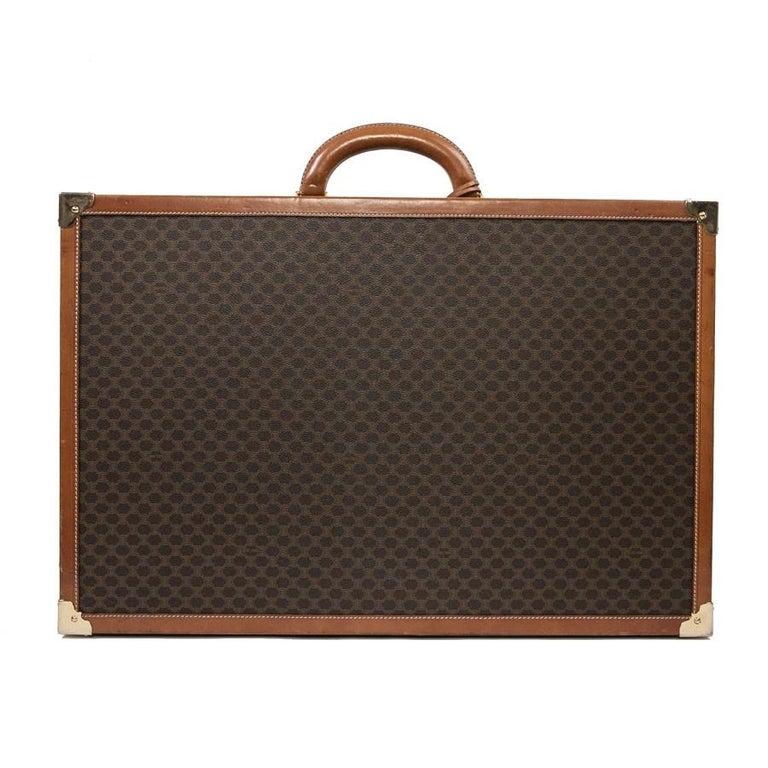 CELINE Trunk / Hard Case In Brown Canvas: Medium For Sale 2