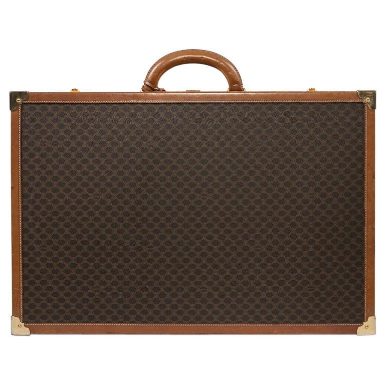 CELINE Trunk / Hard Case In Brown Canvas: Medium For Sale
