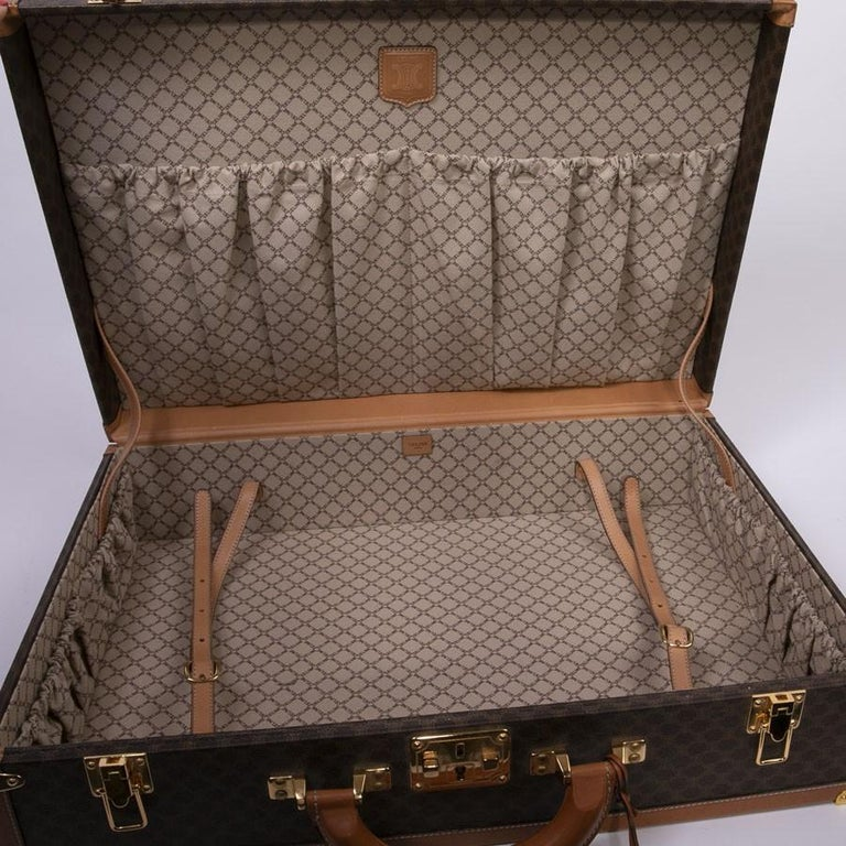 CELINE Trunk / Hard Case In Brown Canvas: Small For Sale 5
