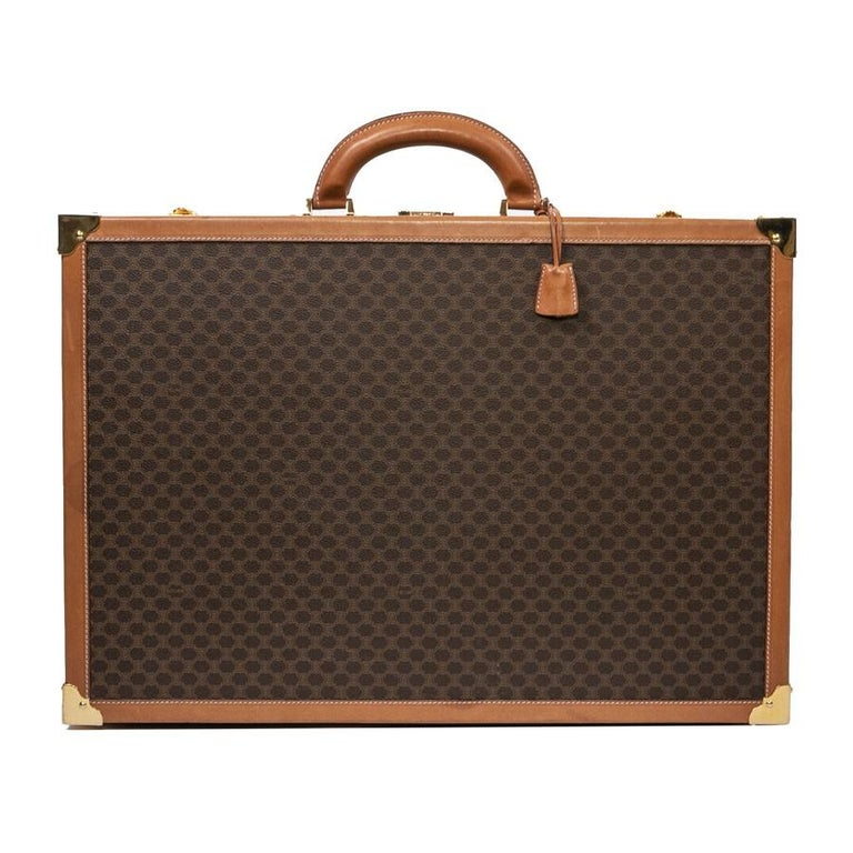 CELINE Trunk / Hard Case In Brown Canvas: Small For Sale 1