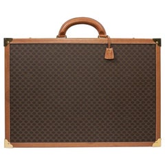 CELINE Trunk / Hard Case In Brown Canvas: Small
