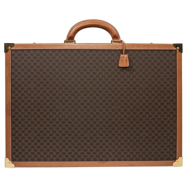 CELINE Trunk / Hard Case In Brown Canvas: Small For Sale