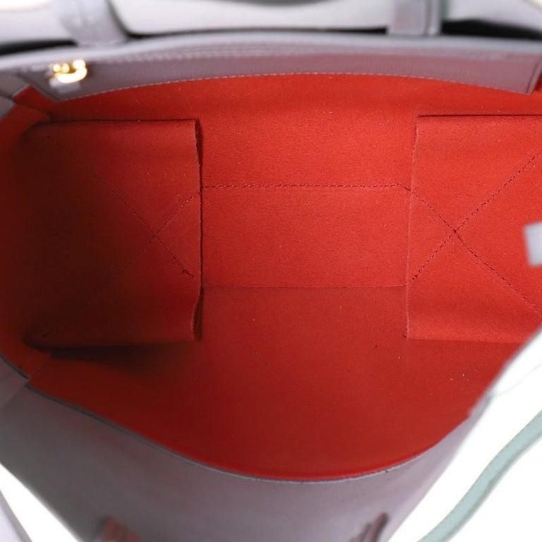 Celine Vertical Bi-Cabas Tote Grained Calfskin Small For Sale 2