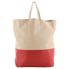 Celine Vertical Bi-Cabas Tote Leather Large