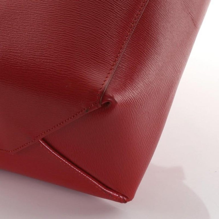 Celine Vertical Cabas Tote Grained Calfskin Small For Sale 2