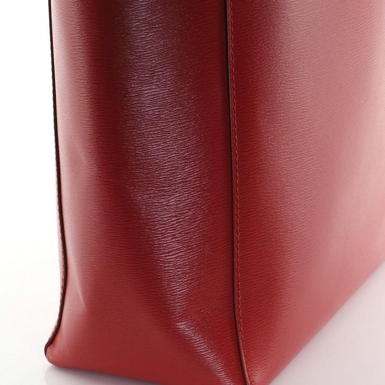 Celine Vertical Cabas Tote Grained Calfskin Small For Sale 3