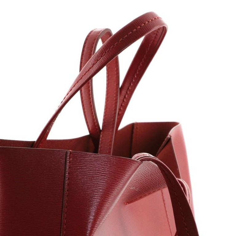 Celine Vertical Cabas Tote Grained Calfskin Small For Sale 4