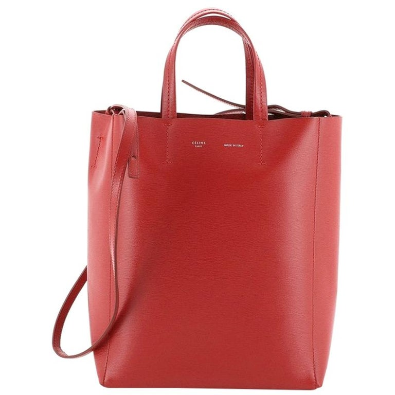 Celine Vertical Cabas Tote Grained Calfskin Small For Sale