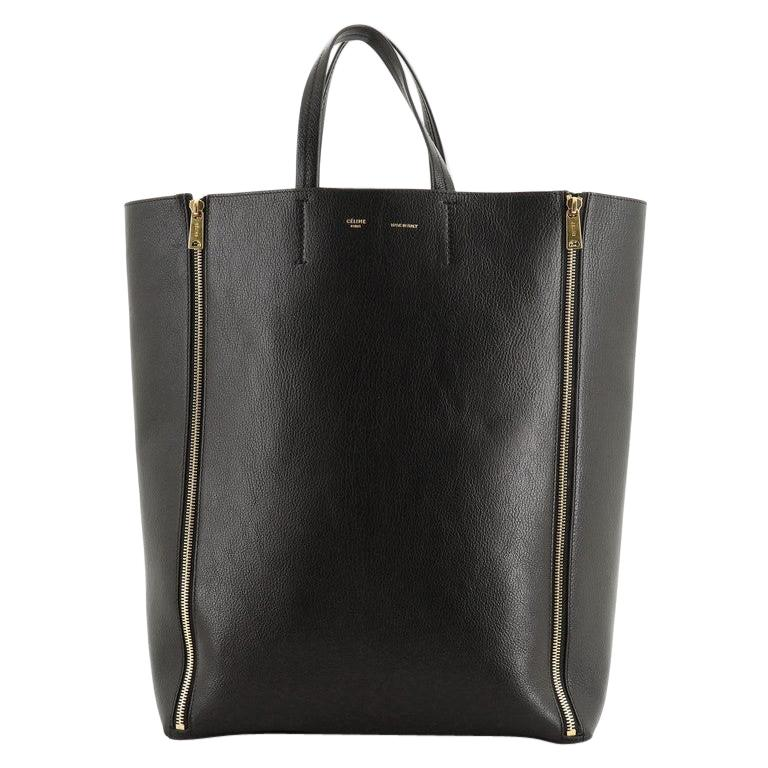 Celine Vertical Gusset Cabas Tote Leather Large For Sale