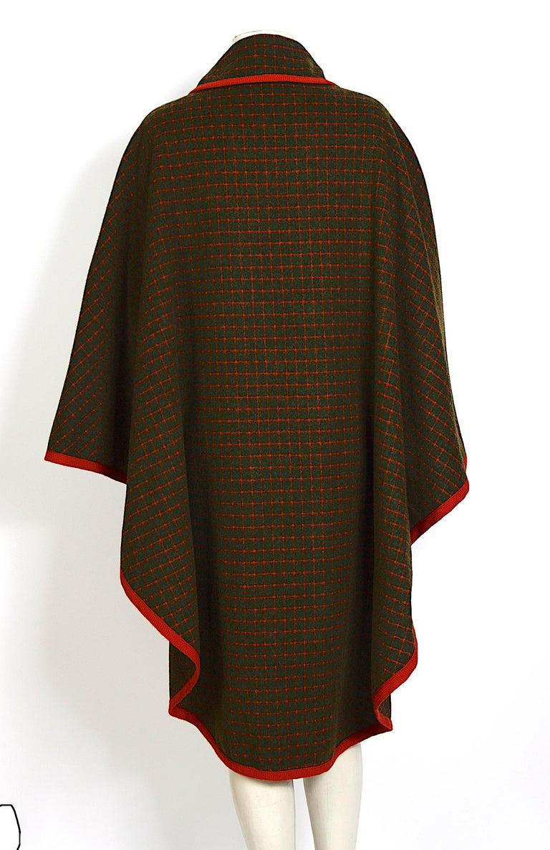 Women's Celine vintage 1970s wool cape For Sale