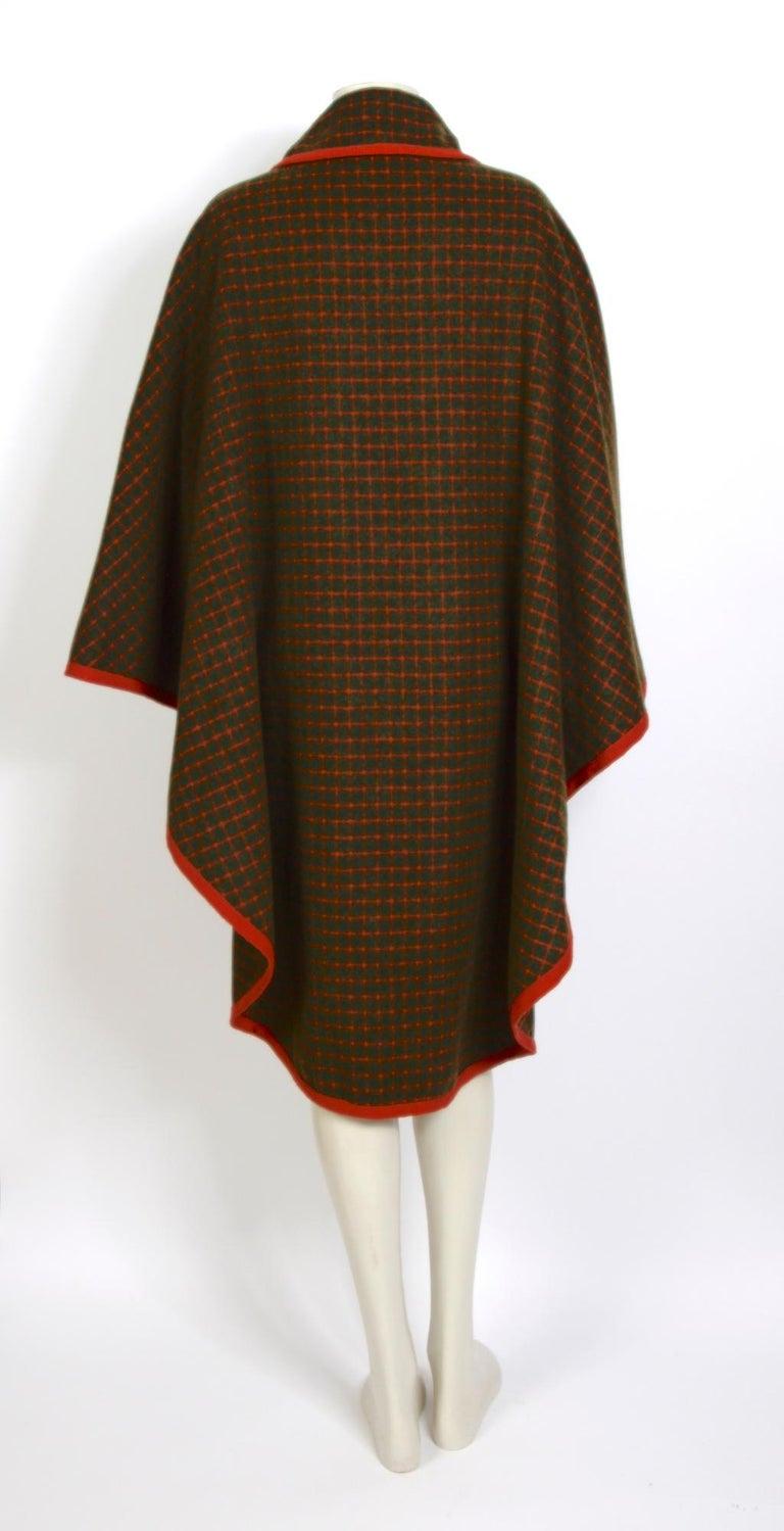 Celine vintage 1970s wool cape For Sale 1