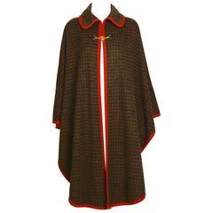 Celine vintage 1970s wool cape