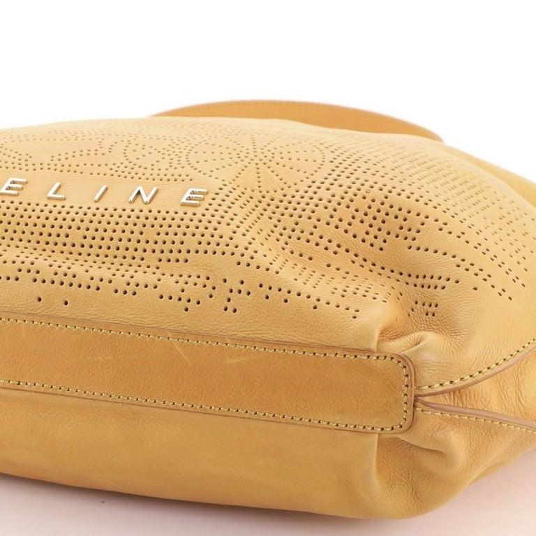 Celine Vintage Carriage Messenger Bag Perforated Leather Large For Sale 1