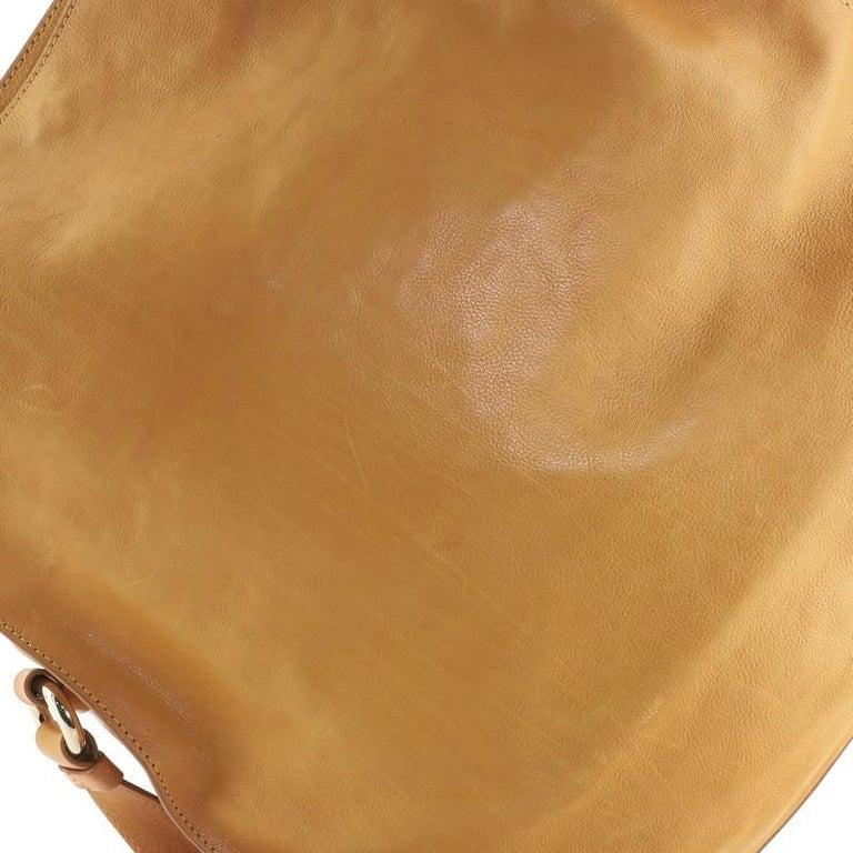 Celine Vintage Carriage Messenger Bag Perforated Leather Large For Sale 2