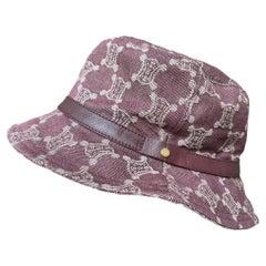 Celine Vintage Triomphe Denim Bucket Hat Size Small