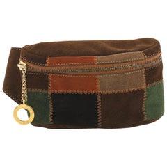 Celine Vintage Waist Bag Patchwork Suede
