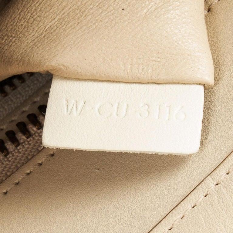 CELINE white beige green leather TRI COLOR MICRO LUGGAGE TOTE Bag For Sale 1