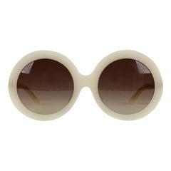 Celine White Oversized Mint Sunglasses CL 40081U 61-23 140 mm Boxed