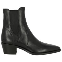 Celine Woman Ankle boots Black Leather IT 37