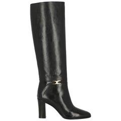 Celine Woman Boots Black Leather IT 37