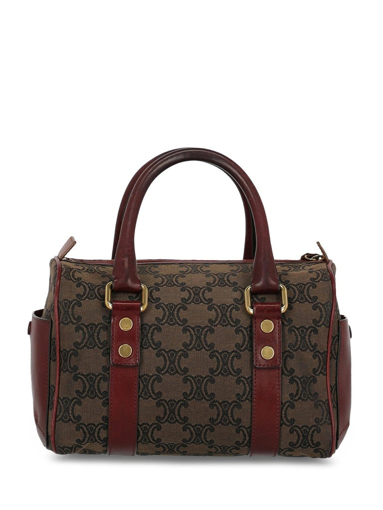 Celine Woman Boston Brown, Burgundy  In Fair Condition For Sale In Milan, IT