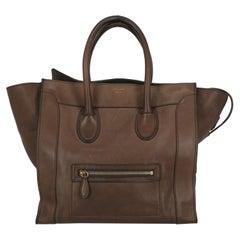 Celine Woman Handbag Luggage Brown Leather