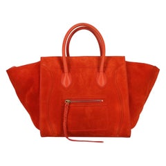Celine Woman Handbag Phantom Orange Leather