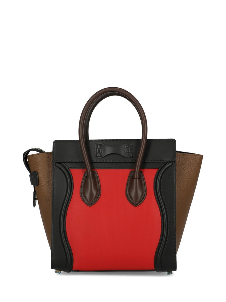 Women's Celine Woman Luggage Black, Brown, Red  For Sale