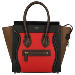 Celine Woman Luggage Black, Brown, Red
