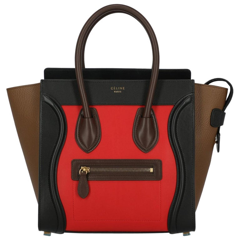 Celine Woman Luggage Black, Brown, Red  For Sale