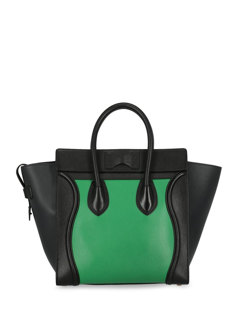 Women's Celine Woman Luggage Black, Green  For Sale