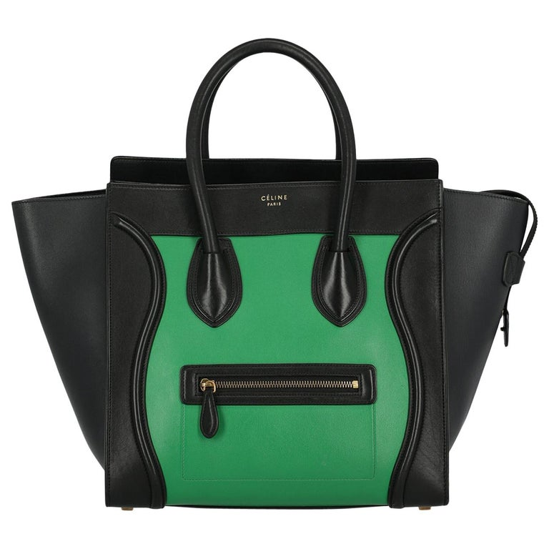 Celine Woman Luggage Black, Green  For Sale