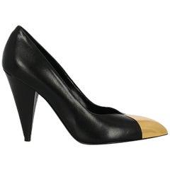 Celine Woman Pumps Black Leather IT 37.5