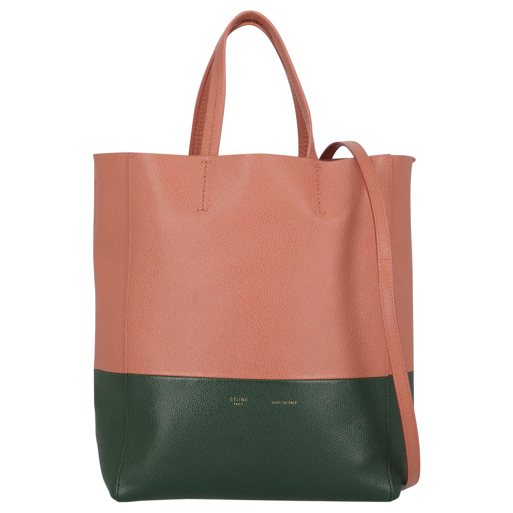 Celine Woman Shoulder bag  Green Leather