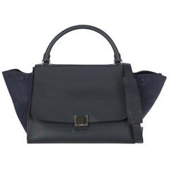 Celine Woman Shoulder bag Trapeze Navy Leather