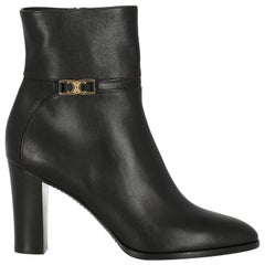 Celine  Women   Ankle boots  Black Leather EU 36.5