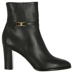 Celine  Women Ankle boots  Black Leather EU 37.5