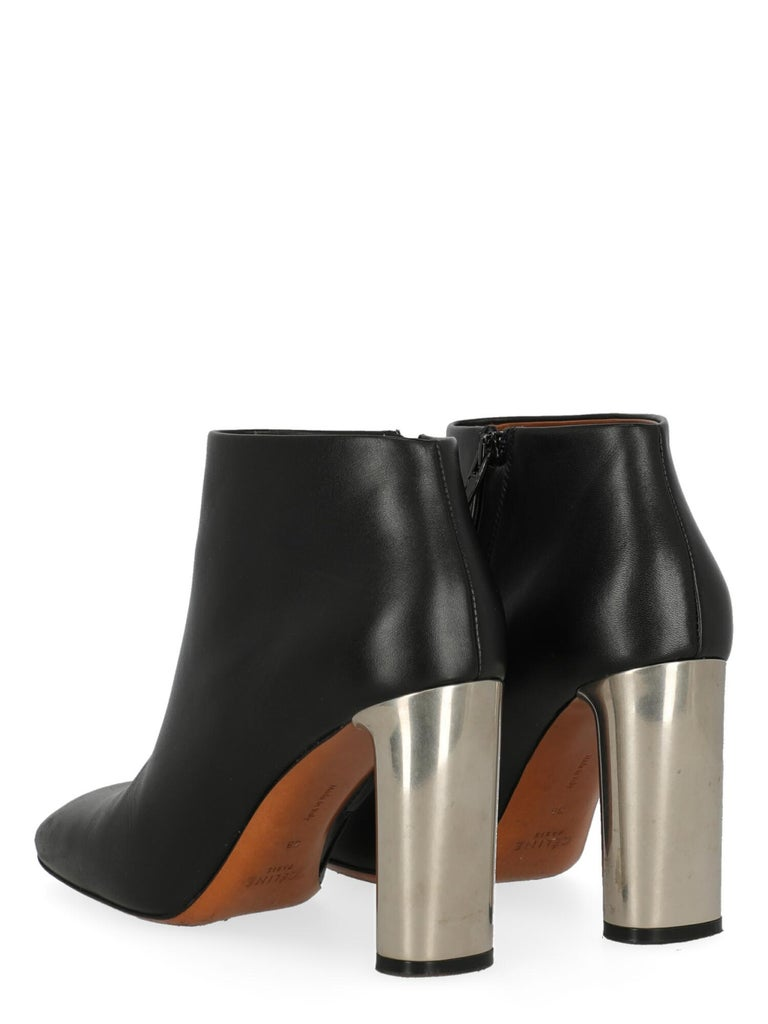 Celine  Women   Ankle boots  Black Leather EU 38 In Good Condition For Sale In Milan, IT
