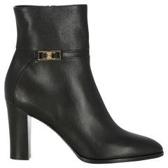 Celine  Women Ankle boots  Black Leather EU 38.5
