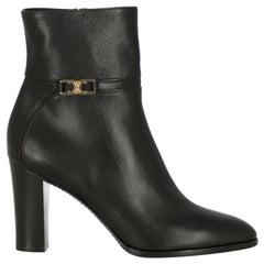 Celine  Women Ankle boots  Black Leather EU 40