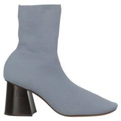 Celine Women  Ankle boots Blue Synthetic Fibers IT 39